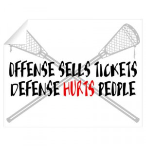 CafePress > Wall Art > Wall Decals > Lacrosse Defense Hurts Wall Decal