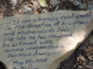 Quote: Henry David Thoreau / Photo: A.S. - Walden Pond