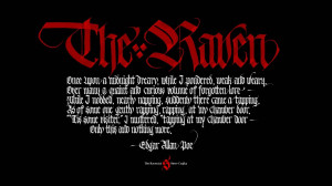 Poe Raven Quotes The raven (wallpaper 7),