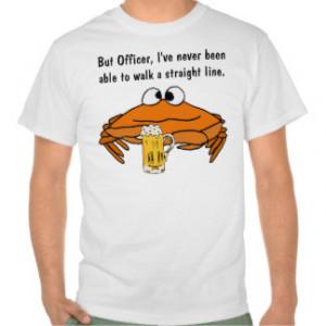 CB- Funny Crab Drinking Shirt