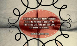 When Two Hearts Are Meant For Each Other, No Distance Is Too Far.