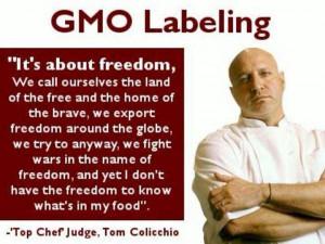 GMO labeling. Tom Colicchio quote.