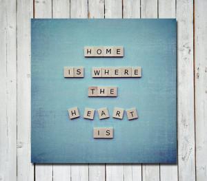 Scrabble quote print - quote art wall art home decor - quote ...