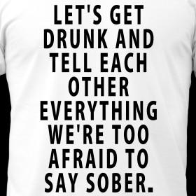 Design ~ Let's Get Drunk - Quote Men's T-Shirt