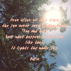 Hafiz Quotes Sun After a while, the sun peeked