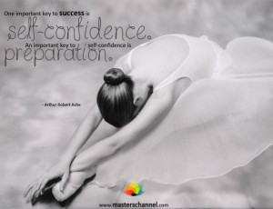 One important key to success is self-confidence. An important key to ...