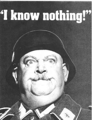 ... Schultz impression (Hogan's Heroes) and report,