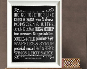 Idea - Together Quote DIY Personalized Print - We go together like ...