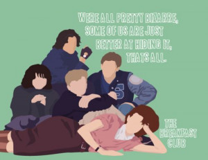 the breakfast club. Claire, Brian, Andrew, Bender, Allison!! ♥