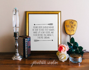 Boy Nursery Quote Print, arrow printable wall art decor, inpirational ...