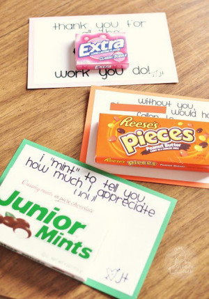 Fun and cute sayings to do with candy bars!!
