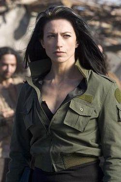 Claudia Black as Vala Mal Doran in a screenshot taken from the ...
