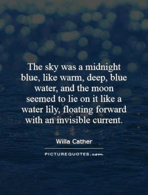 Moon Quotes Sky Quotes Willa Cather Quotes