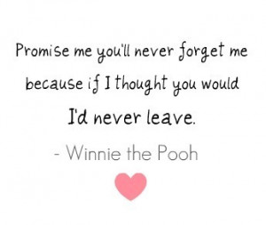 ME YOU'LL NEVER FORGET MEBECAUSE IF I THOUGHT YOU WOULDI'D NEVER ...