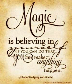 Magic Is Believing In Yourself.