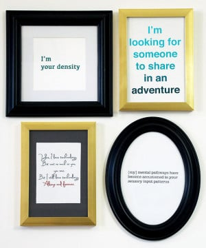 DIY Geek Art - Geeky Love Quotes