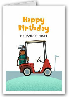 Assorted Boxed golf Birthday Cards | Personalized boxed Golf Birthday ...