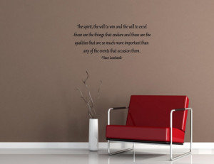 The spirit , the will to win Vinyl wall quotes sayings words lettering ...