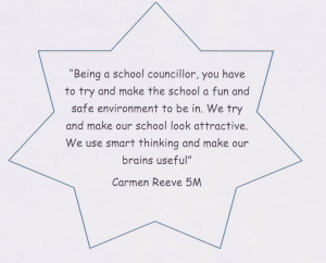 Positive School Quotes The school council has had a