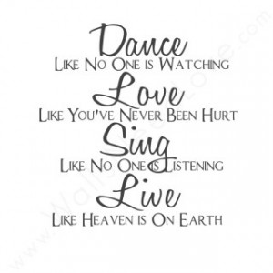 Dance. Love. Sing. Live.