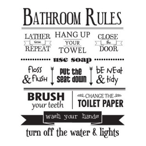 ... change the toilet paper wash your hands turn off the water amp lights