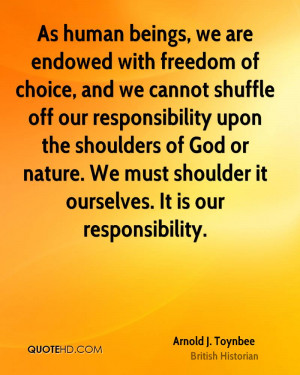 Arnold J. Toynbee Nature Quotes