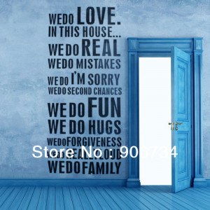 6PCS/Set 2013 Hot Sale Home Improvement DIY Family Quotes Decal Wall ...