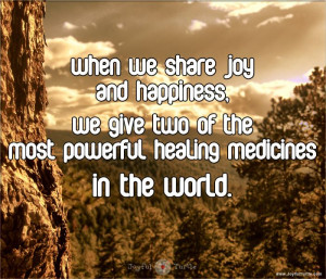 When We Share #Happiness and #Joy, We Give the two Most Powerful # ...