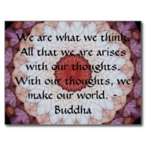 Buddha inspirational QUOTE Postcard
