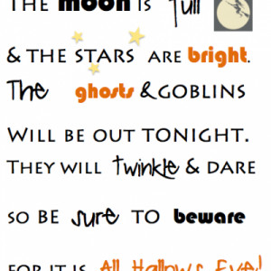 and halloween poem printable halloween poems my halloween poem for the ...