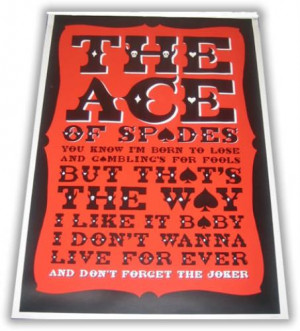 Motorhead, Ace Of Spades Art Print, UK, poster, Airside, , 393728