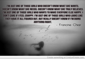 ... inspirational, life, love, pretty, quote, quote francine chiar, quotes