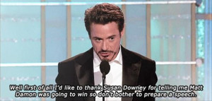 awww! Poor Downey must be enthrall