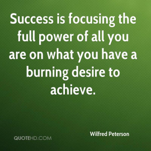 ... power of all you are on what you have a burning desire to achieve