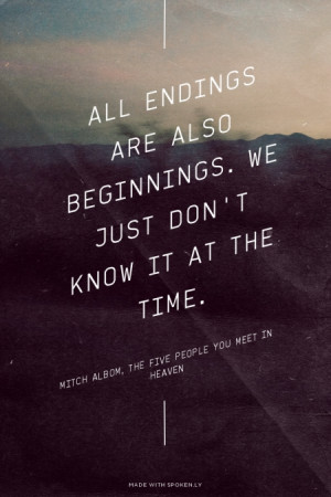 What is the best Mitch Albom, The Five People You Meet in Heaven quote ...