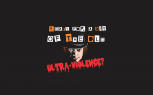 minimalistic movies text quotes typography a clockwork orange ...