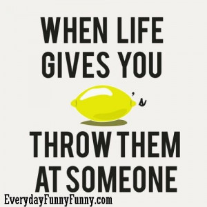 when life gives you throw them at someone When Life Gives You Lemons