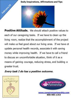 Februray 14: Positive Attitude #caregiver http://www ...