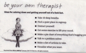 Funny Massage Therapy Quotes Be your own therapist (muy