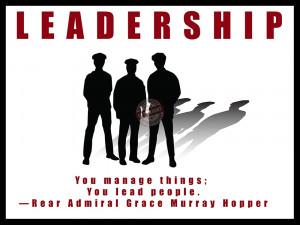 "Police Motivation Poster ""Leadership"""
