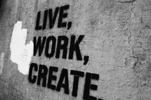 graffiti, life work create, quotes, quptes, text, typography