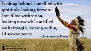 Looking behind, I am filled with gratitude, looking forward, I am ...