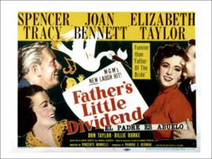 ... Dividend Joan Bennett Spencer Tracy Elizabeth Taylor Don Taylor 1951