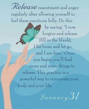 Release resentment and anger