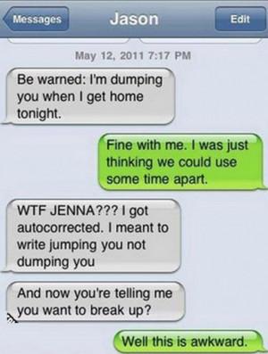 Boyfriend & Girlfriend Text FAIL!