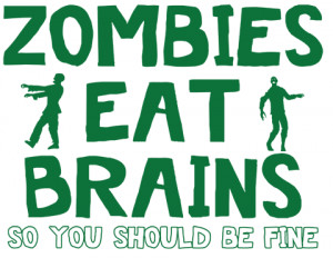 Cute Zombie Quotes and Pictures