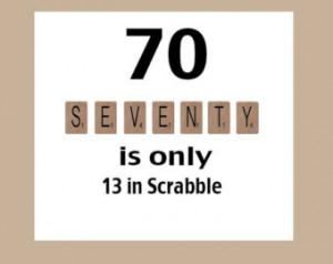 70th Birthday Card, Milestone Birthday, 70th Birthday, Scrabble ...