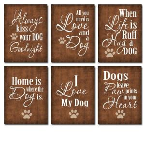 Dog art, dog quotes