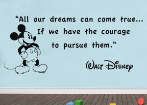 ... -Walt-Disney-Quote-Decal-WALL-STICKER-Decor-Art-Mickey-Mouse-SQ62