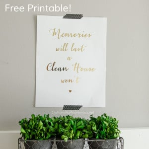 Free Clean House Quote Printable